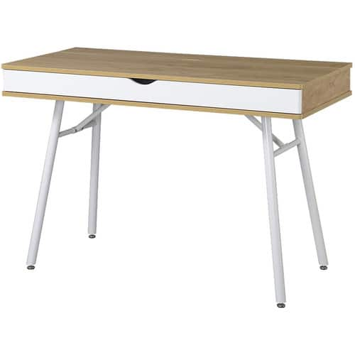 Techni Mobili Modern Computer Desk with Storage, Pine $84.24@amazon