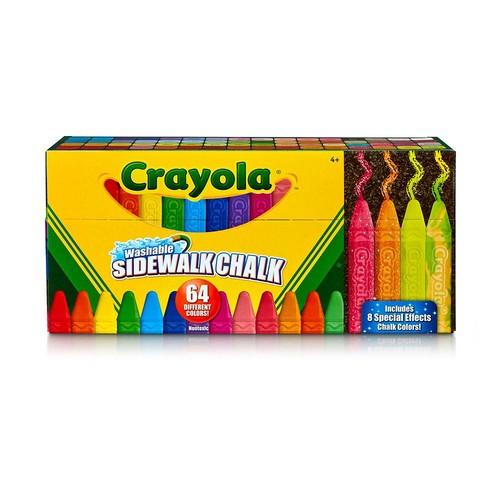 Crayola Sidewalk Chalk, Washable, Outdoor, Gifts for Kids, 64 Count $6.71@amazon
