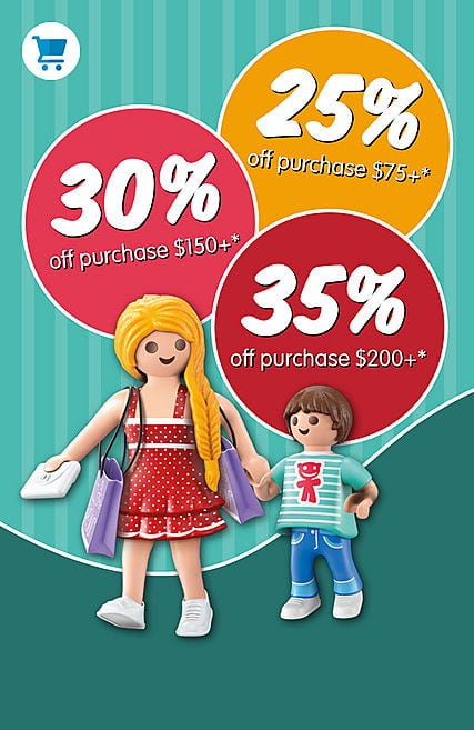 Playmobil 35% off orders 200 and up $75