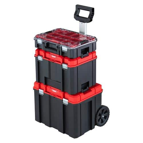 CRAFTSMAN VERSASTACK 17.126-in Plastic; Metal Wheels Lockable Tool Box $79.98