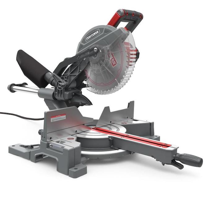 CRAFTSMAN 10-in 15-Amp Single Bevel Sliding Miter Saw $189