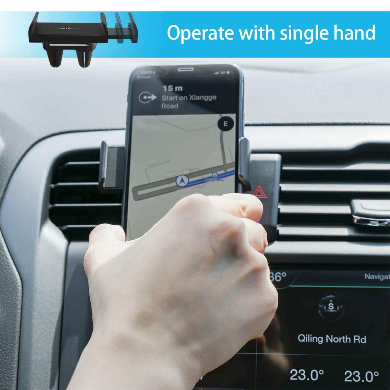 Car Cell Phone Mount Universal Stand Hands Free Cradle