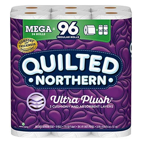 24-Count 3-Ply Quilted Northern Ultra Plush Toilet Paper Mega Rolls $19.98 + Free Shipping w/ Prime or on orders over $25
