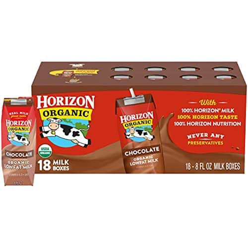 18-Pack 8-Oz Horizon Organic Low Fat Milk Boxes (Chocolate) $12.86 ($0.71 each) w/ S&S + Free Shipping w/ Prime or on orders over $25