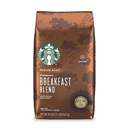 20-Oz Starbucks Breakfast Blend Medium Roast Ground Coffee $7.30 w/ S&S + Free Shipping w/ Prime or on orders over $25