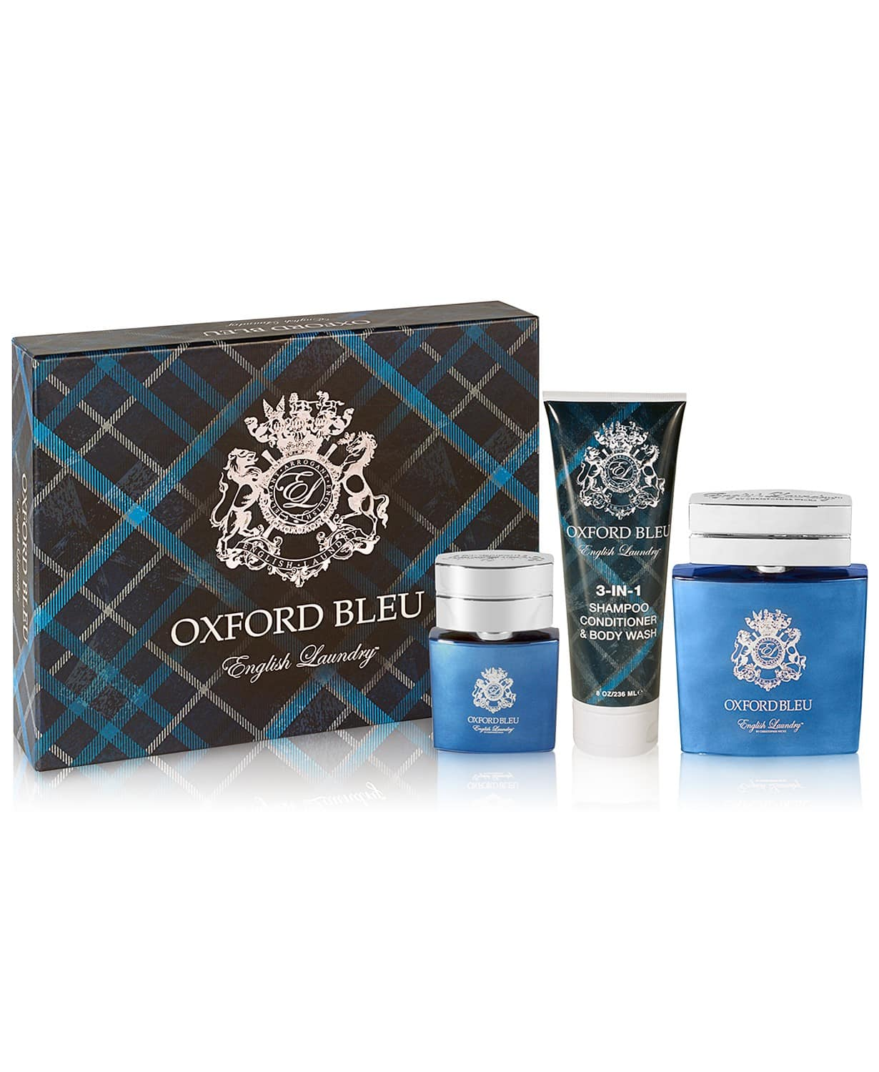 3-Piece English Laundry Men's Fragrance Gift Sets (Oxford Blue or Crown) $25 each + Free Shipping