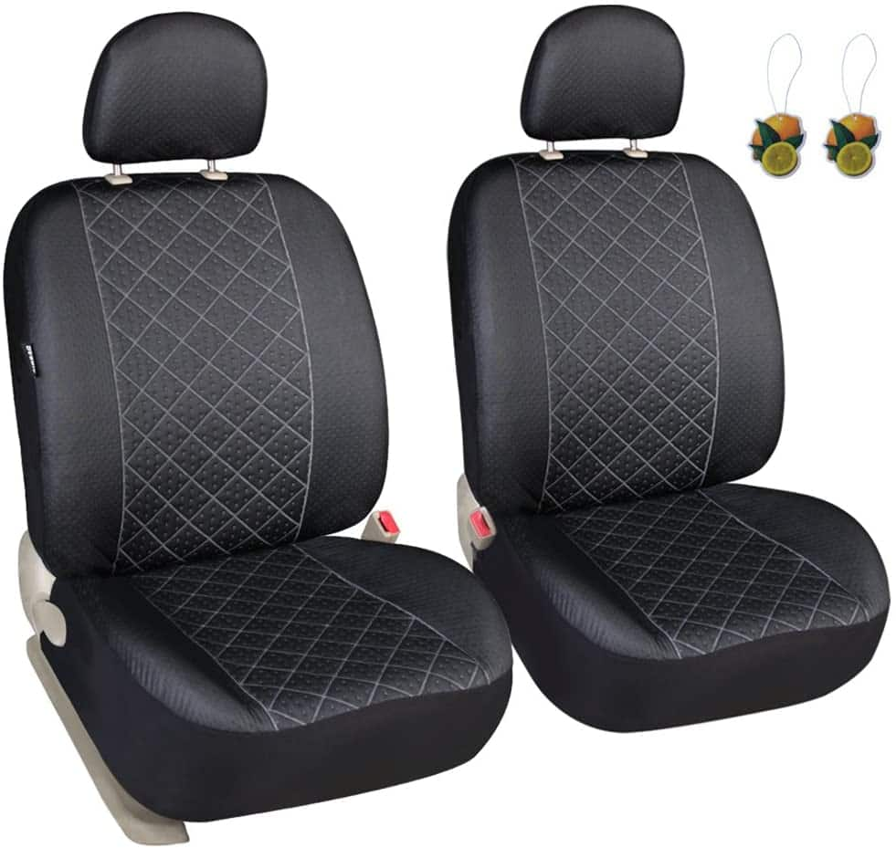 Set of 2 Leader Accessories Elegance Car Front Seat Covers (Black) $11.05 + Free Shipping w/ Prime or on $25+