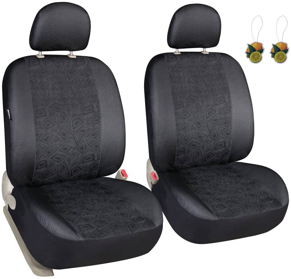 Set of 2 Leader Accessories Elegance Car Front Seat Covers (2 Styles) from $9.99 + Free Shipping w/ Prime or on $25+
