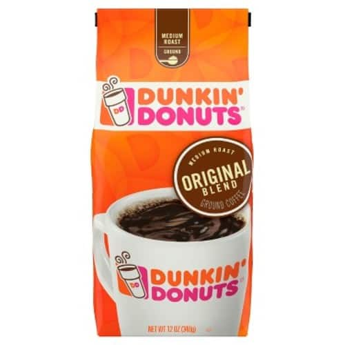 12-Oz Dunkin' Donuts Original Blend Ground Coffee (Medium Roast) $4.74 w/ S&S + Free Shipping w/ Prime or on orders over $25
