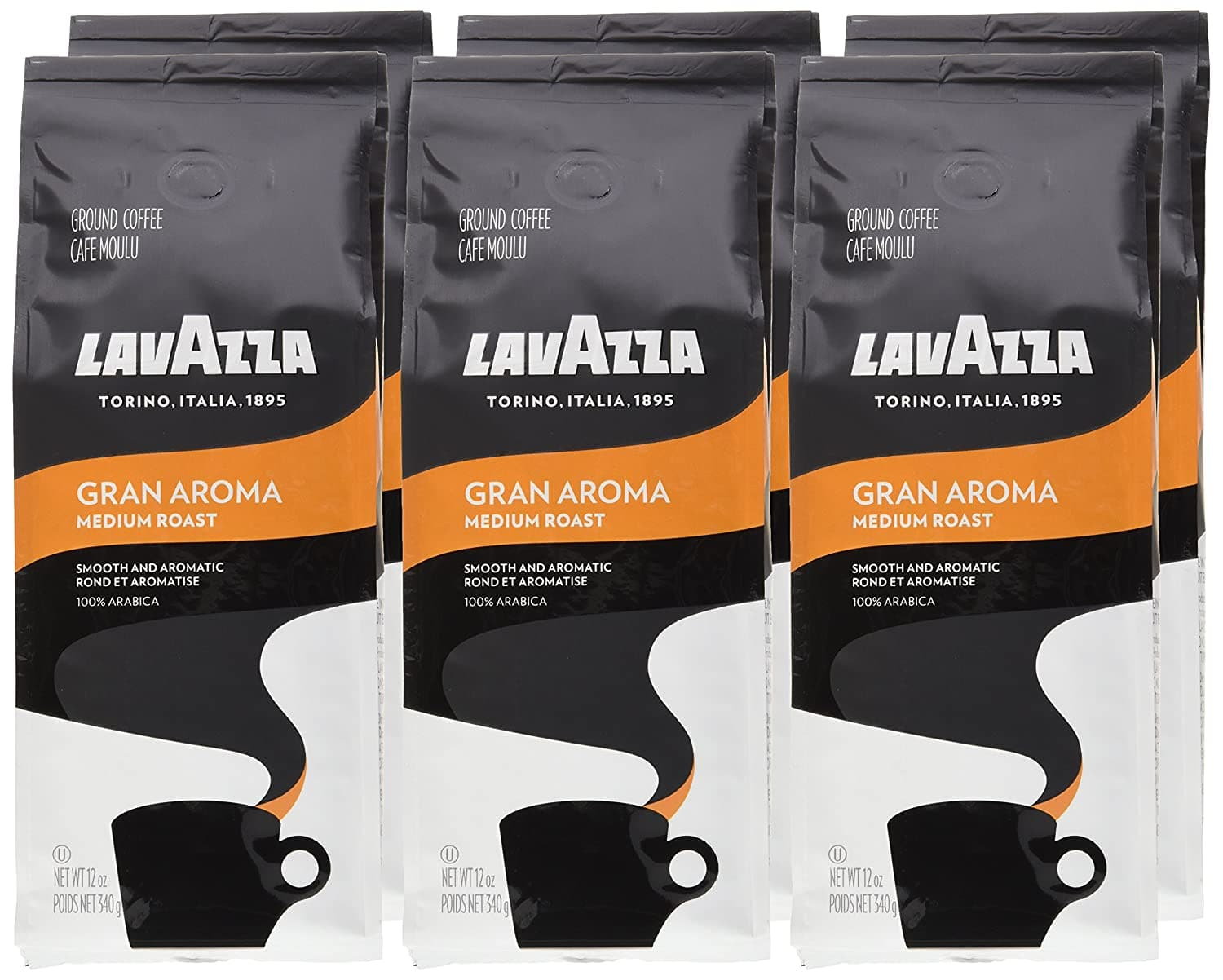 6-Pack 12-Oz Lavazza Gran Aroma Ground Coffee Blend (Light Roast) $25 ($4.17 each) w/ S&S + Free Shipping