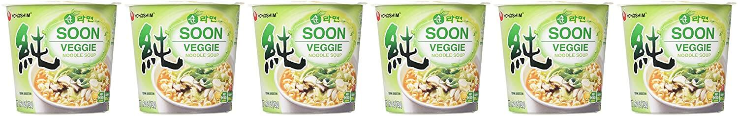 6-Count 2.6-Oz Nongshim Soon Cup Noodle Soup (Veggie) $5.59 w/ S&S + Free Shipping w/ Prime or on orders over $25