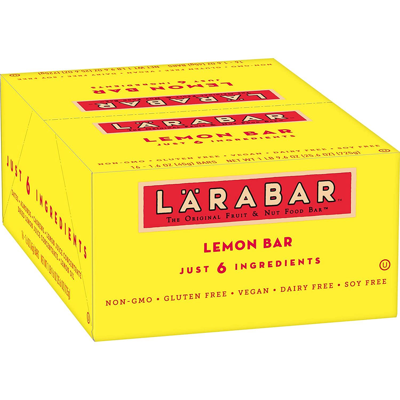 16-Count 1.6-Oz Larabar Gluten Free Bar (Lemon) $10.53 w/ S&S + Free Shipping w/ Prime or on orders over $25
