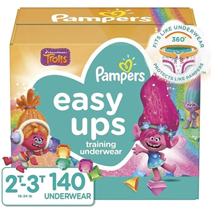 140-Count Pampers Easy Ups Training Pants (Size 4, 2T-3T) $31.97 w/ S&S + Free Shipping
