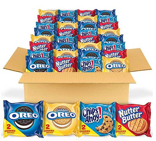 56-Count Cookie Variety Pack (Oreo, Chips Ahoy! and Nutter Butter) $11.24 ($0.20 each) w/ S&S + Free Shipping w/ Prime or on orders over $25