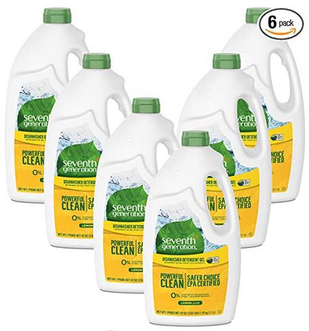 6-Pack 42-Oz Seventh Generation Dishwasher Detergent Gel Soap Bottles (Lemon) $16.45 ($2.74 each) w/ S&S + Free Shipping w/ Prime or on orders over $25