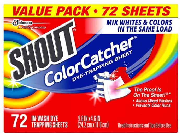 72-Count Shout Color Catcher Dye Trapping Sheets $7.54 w/ S&S + Free Shipping w/ Prime or on orders over $25