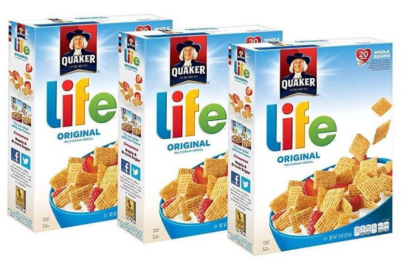 Quaker Life Breakfast Cereal: 3-Pack 13-Oz (Original) $4.85, 4-Count 13-Oz (3 Flavor Variety Pack) $7.49 w/ S&S + Free Shipping w/ Prime or on orders over $25