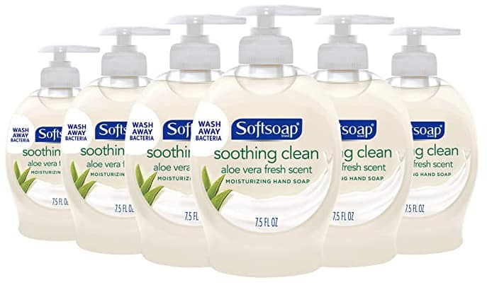 6-Pack 7.5-Oz Softsoap Moisturizing Liquid Hand Soap (Aloe Vera) $5.05, (Fresh Breeze) $5.29 w/ S&S + Free Shipping w/ Prime or on orders over $25