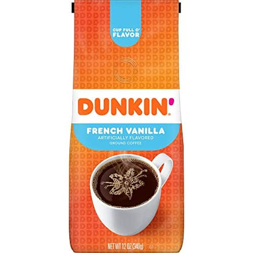 12-Oz Dunkin' Ground Coffee French Vanilla or 11-Oz Dark Roast $3.97 w/ S&S + Free Shipping w/ Prime or on orders over $25