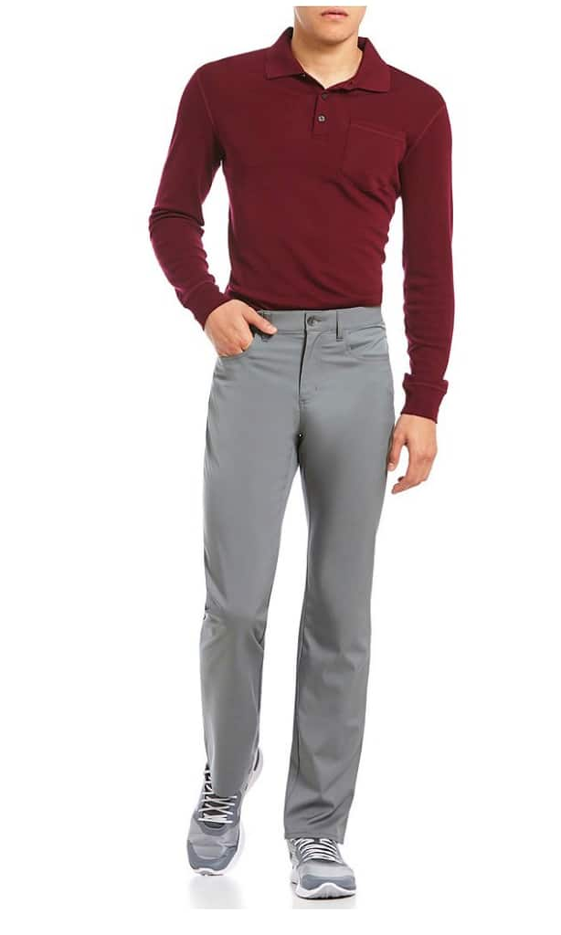 Perry Ellis Premium Performance 4-Pocket Flat-Front Flex Stretch Waist Pants @Dillards 17.32 dollars $17.32