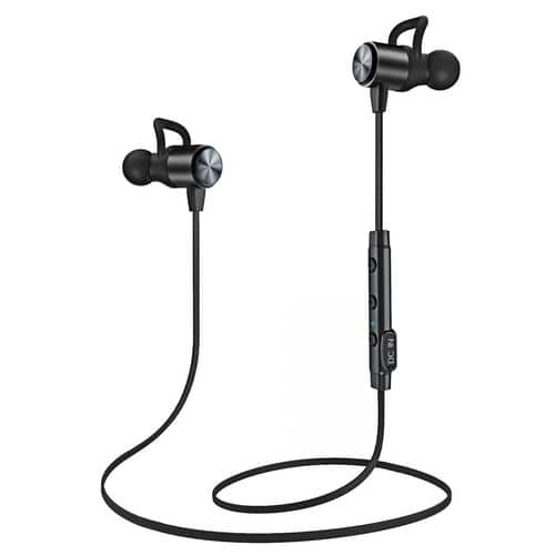 Atgoin Magnetic Noise Cancelling Sweatproof Bluetooth Earbuds $9.99 on Amazon