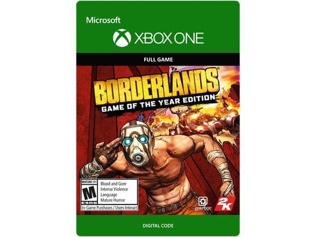 70% off Red Dead Redemption / Borderlands: Game of the Year Edition Xbox One [Digital Codes] $8.89