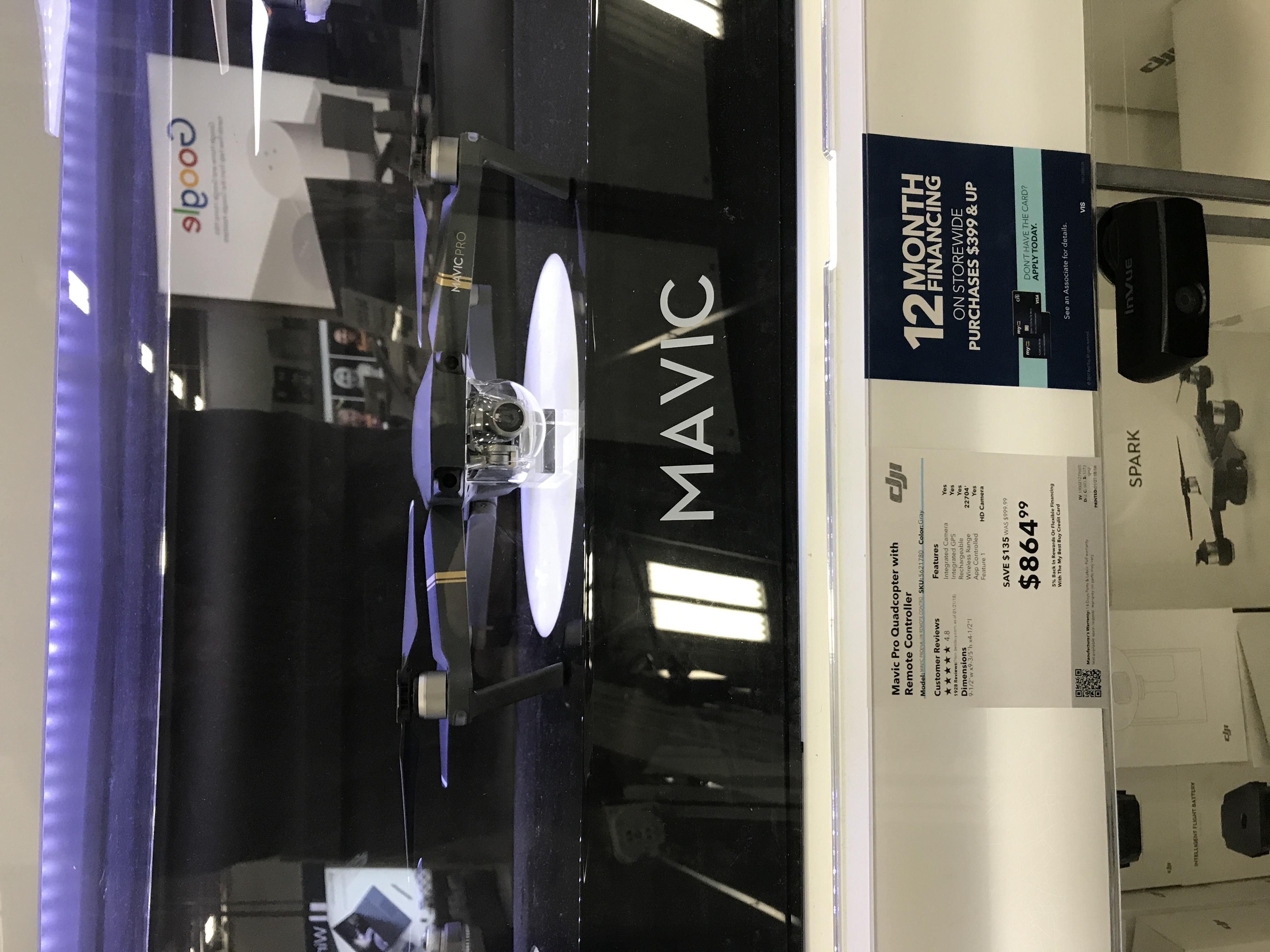 Mavic Pro (Standard Bundle) ymmv $864.99