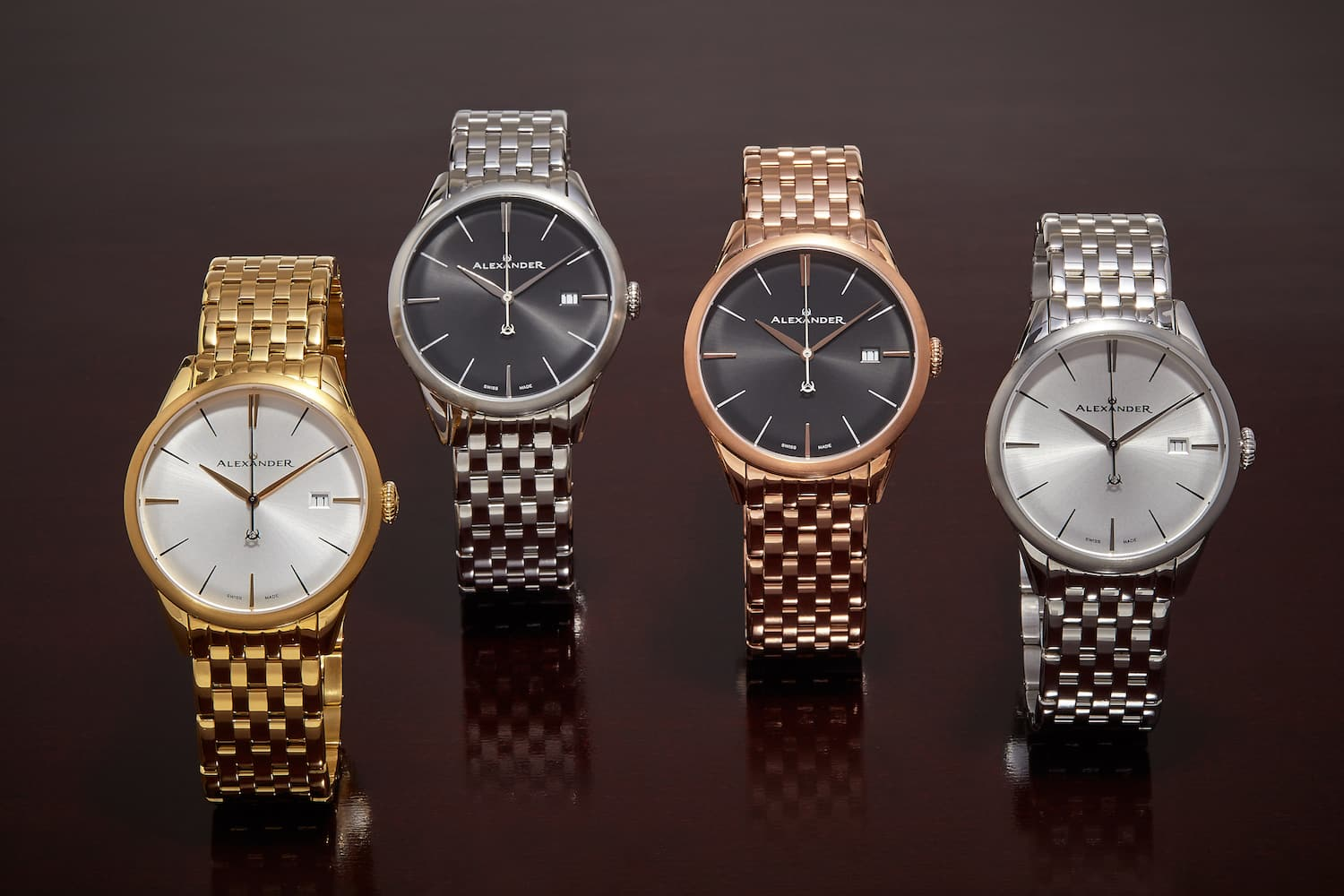Alexander stainless steel Sophisticate watches for men, 50% off ($385-450)