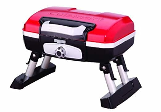 Cuisinart CGG-180T Petit Gourmet Portable Tabletop Gas Grill, Red [Red, Tabletop] $65.24