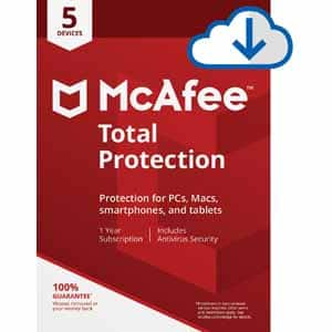 McAfee Total Protection 5 Devices / 1 Year Coverage ... free after mail-in rebate and code