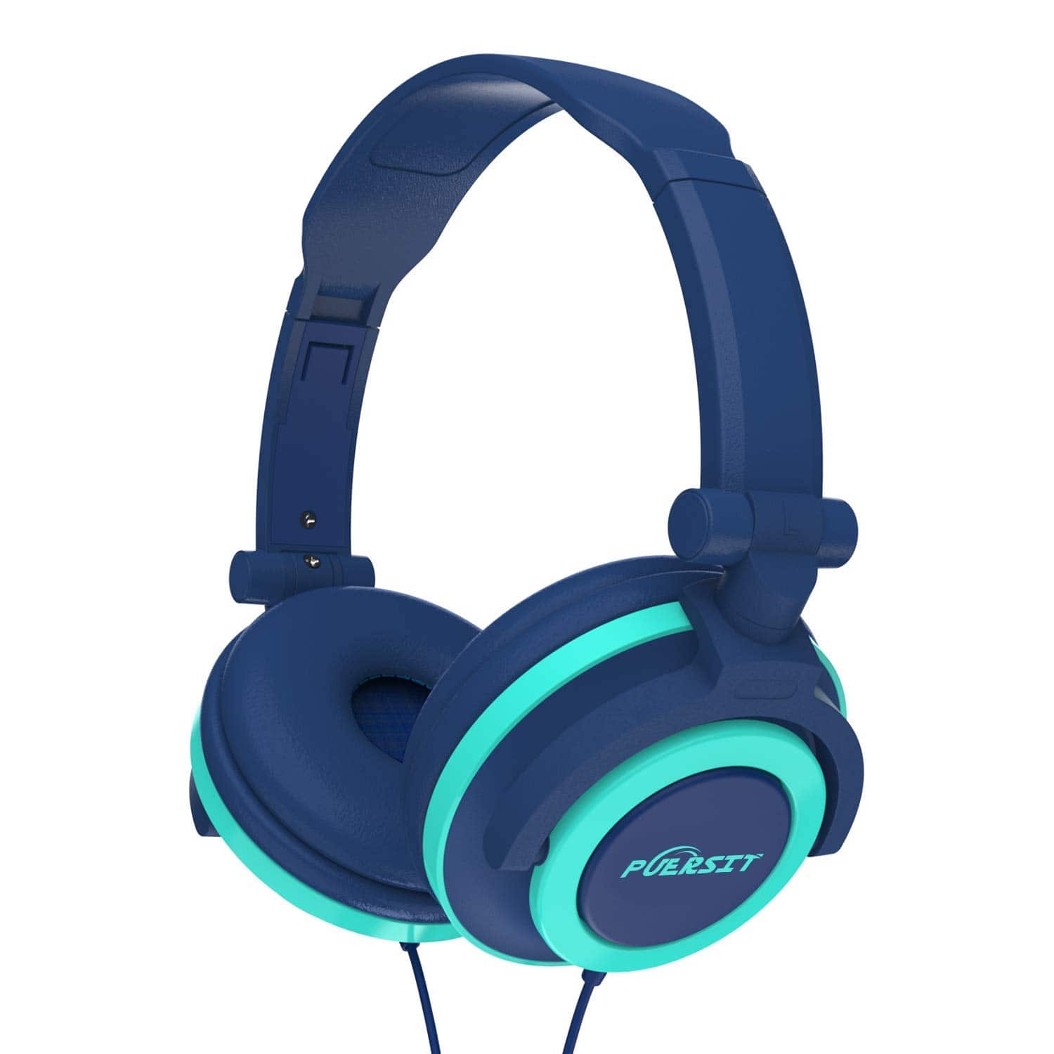 35%off PUERSIT Headphones for Kids, Stereo Bass Earphones Over Ear Headsets 3.5mm Jack for Children Blue and Pink $9.74