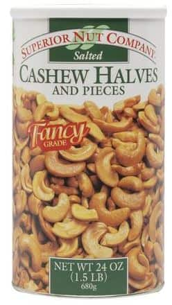 1.5 lbs of cashews $5.78 after sale and rebate