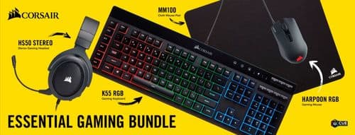 CORSAIR - Essential Wired Gaming Bundle $70