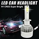 Car LED Headlight Bulbs All-in-One Plug & Play Conversion Kit - H1, 110W 9200Lm 6000K Cool White CREE COB Lamps - 3 Years Warranty (Pack of 2) $11.59