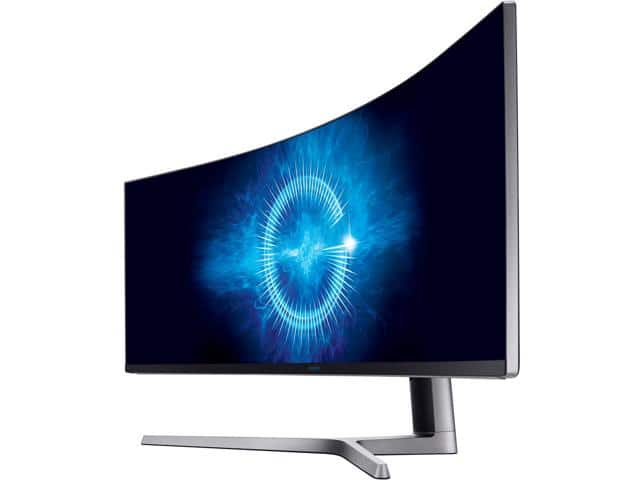 "Samsung C49HG90 49"" QLED Curved HDR AMD FreeSync 2 Gaming Monitor, 3840 x 1080 1ms $899"