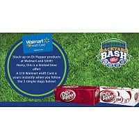 Walmart Deal: Dr. Pepper - buy 5 12-packs at Walmart, send a picture of your receipt, get a $10 Walmart eGift Card