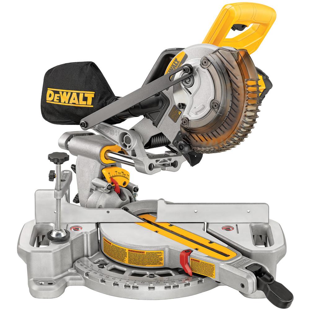 Dewalt Cordless 7-1/4 in. Sliding Compound Miter Saw Kit (Saw + 4Ah Battery) $295.2