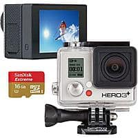 Best Buy Deal: Back In Stock: GoPro Hero3+ Silver Edition Camera, Free 16GB Memory Card & Free GoPro LCD Touch BacPac @ Best Buy - $250