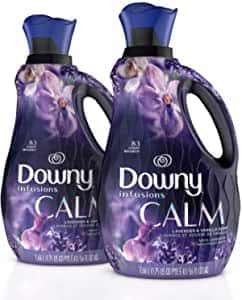 2 pack 56oz Downy Infusions Liquid Laundry Fabric Softener, Calm Scent, Lavender & Vanilla Bean, 166 Total Loads: $10.18 or less