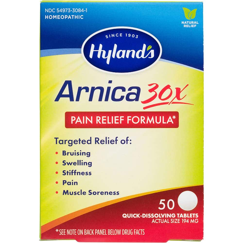 """50 count Hyland's Arnica Montana 30x Tablets, Natural Relief of Bruises, Swelling & Muscle Soreness, Multi"""" $3.55 or lower at Amazon"""