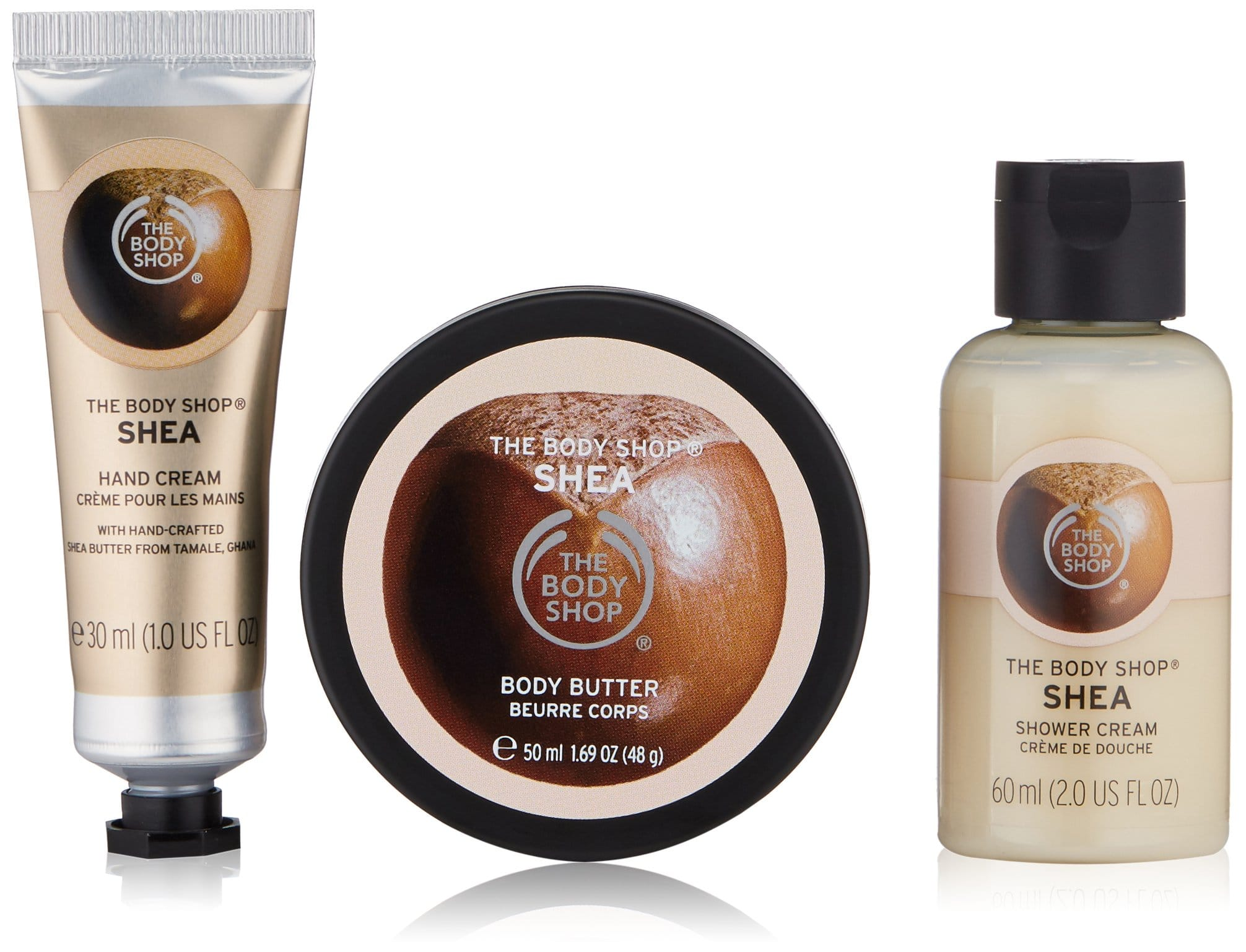 The Body Shop Coconut Beauty Bag (Body Butter, Hand Cream Shower Gel): $10 - other scents available too
