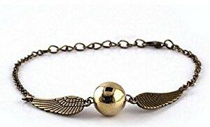 Harry Potter Quidditch Golden Snitch Bracelets chain fashion golden jewelry fan gift: $1.09 + Free Shipping