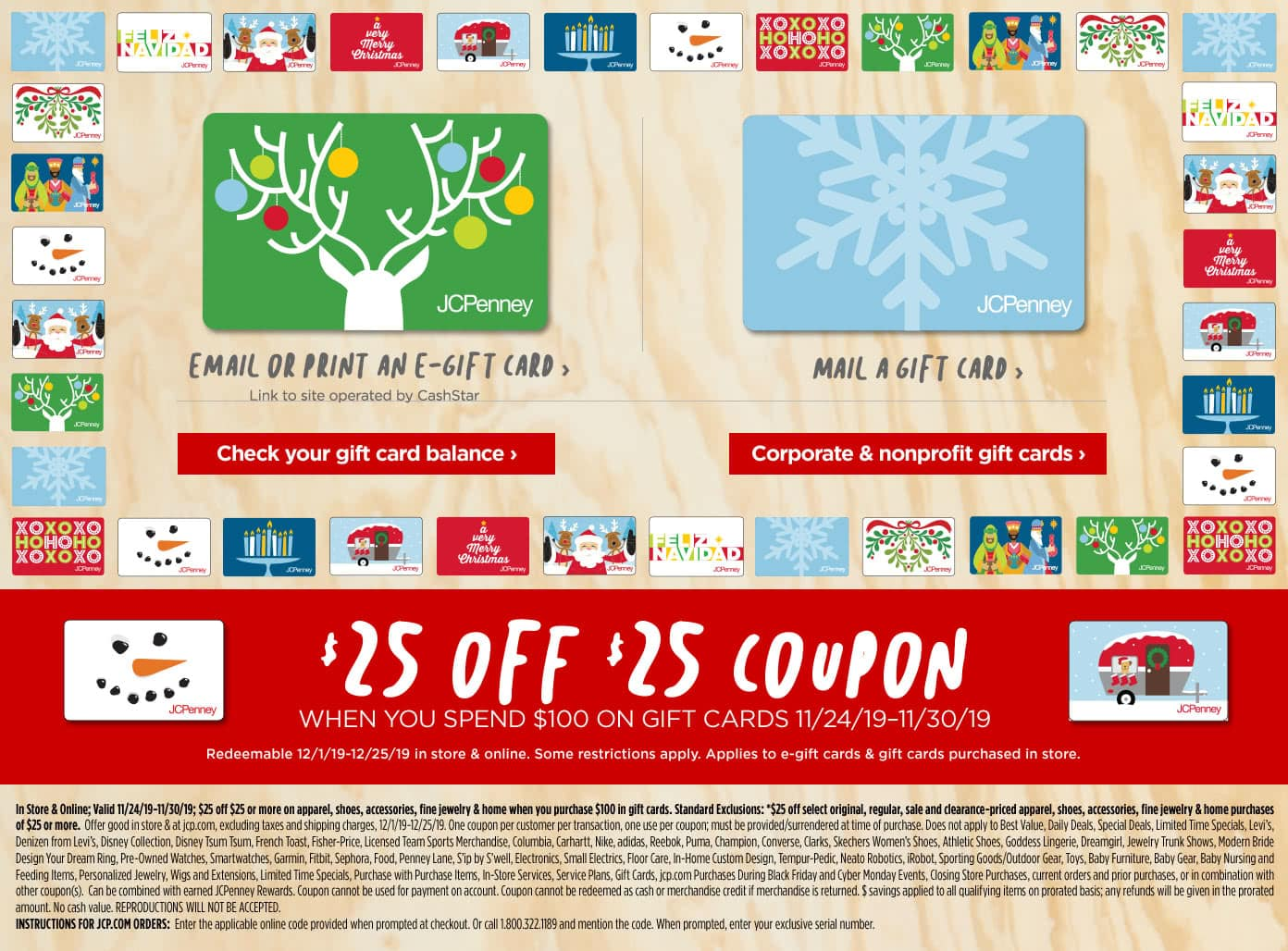 JcPenney: Purchase $100 in Gift Cards, get $25 off $25 coupon