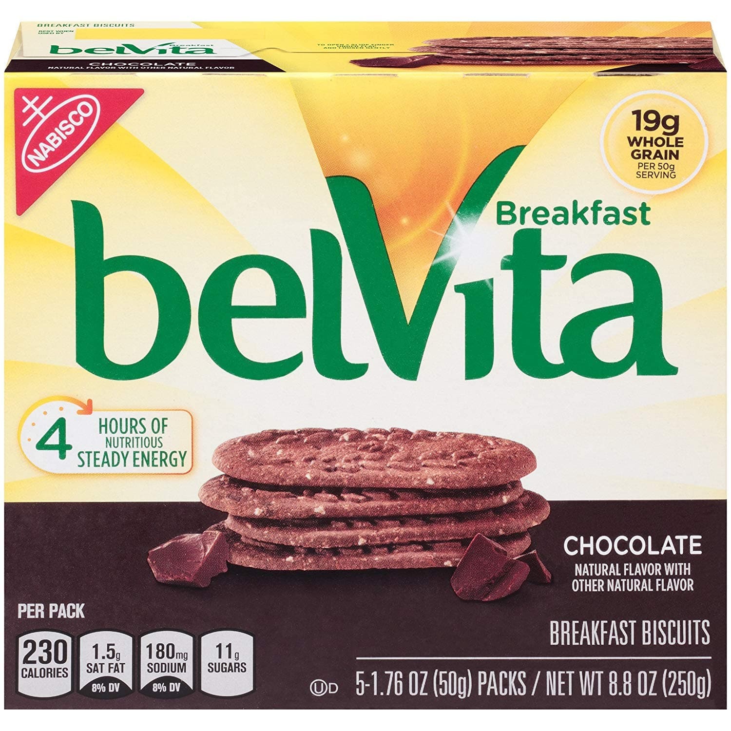 belVita Breakfast Biscuits, Chocolate Flavor, (Pack of 6) (4 Biscuits Per Pack): $14.41 or less w/S&S and A/c