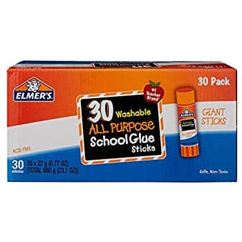 Elmer's All Purpose School Glue Sticks, Washable, 7 Gram, 30 Count: As low as $5.12 w/S&S *lowest price per CCC*