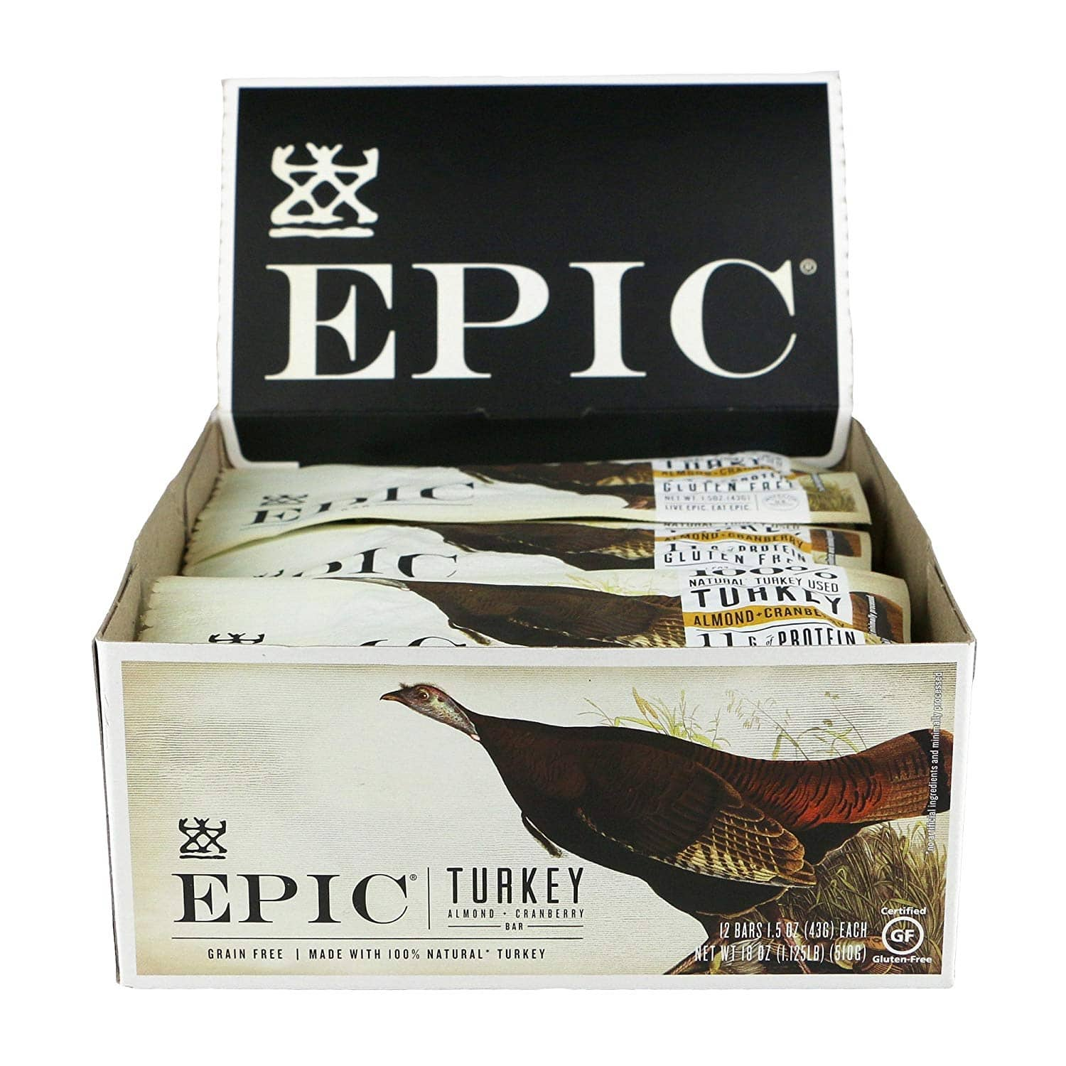 EPIC Turkey Almond Cranberry Protein Bars, Whole30, 12 Count Box 1.5oz bars: $9.42 or less w/S&S
