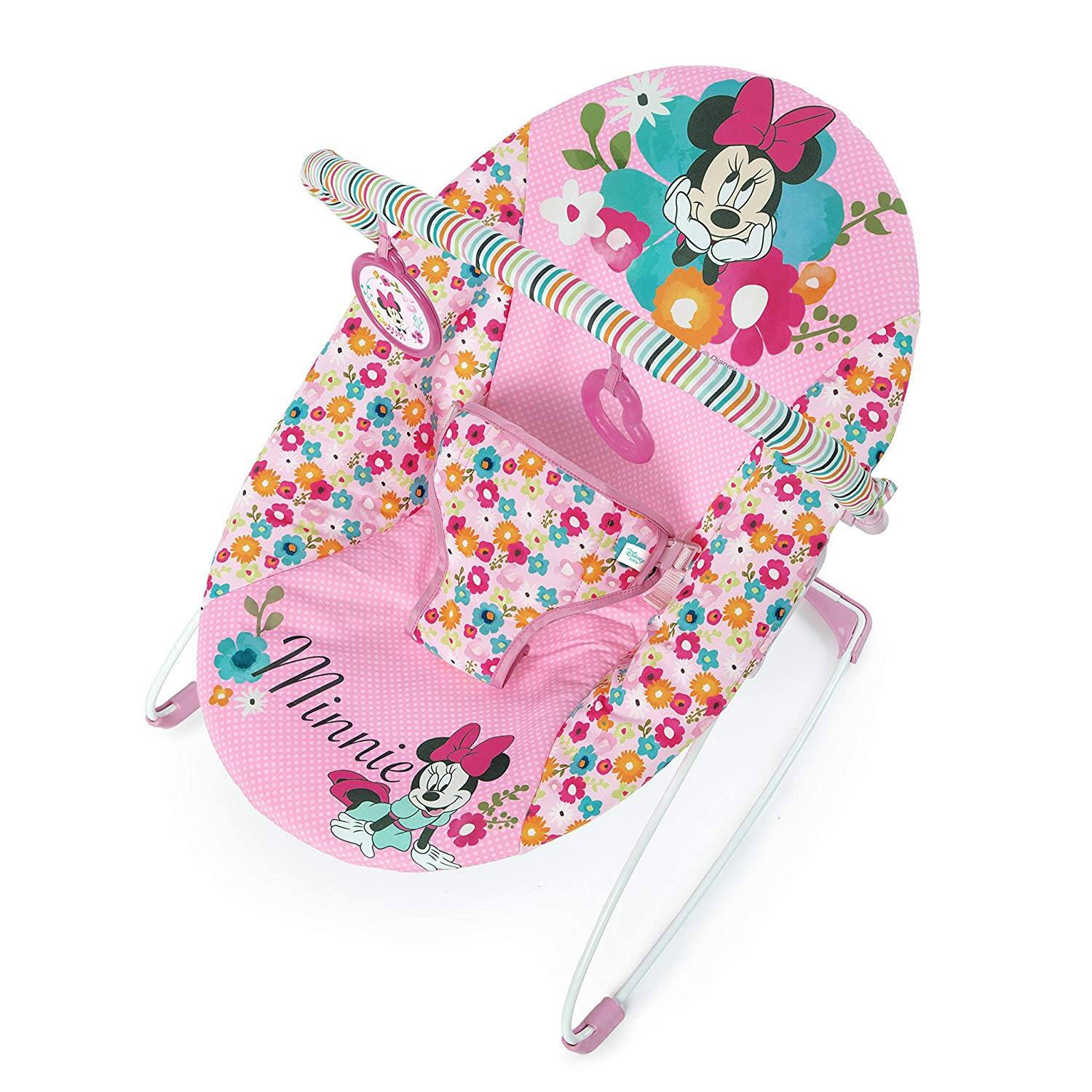 Disney Baby Minnie Mouse Perfect Vibrating Bouncer (Pink)