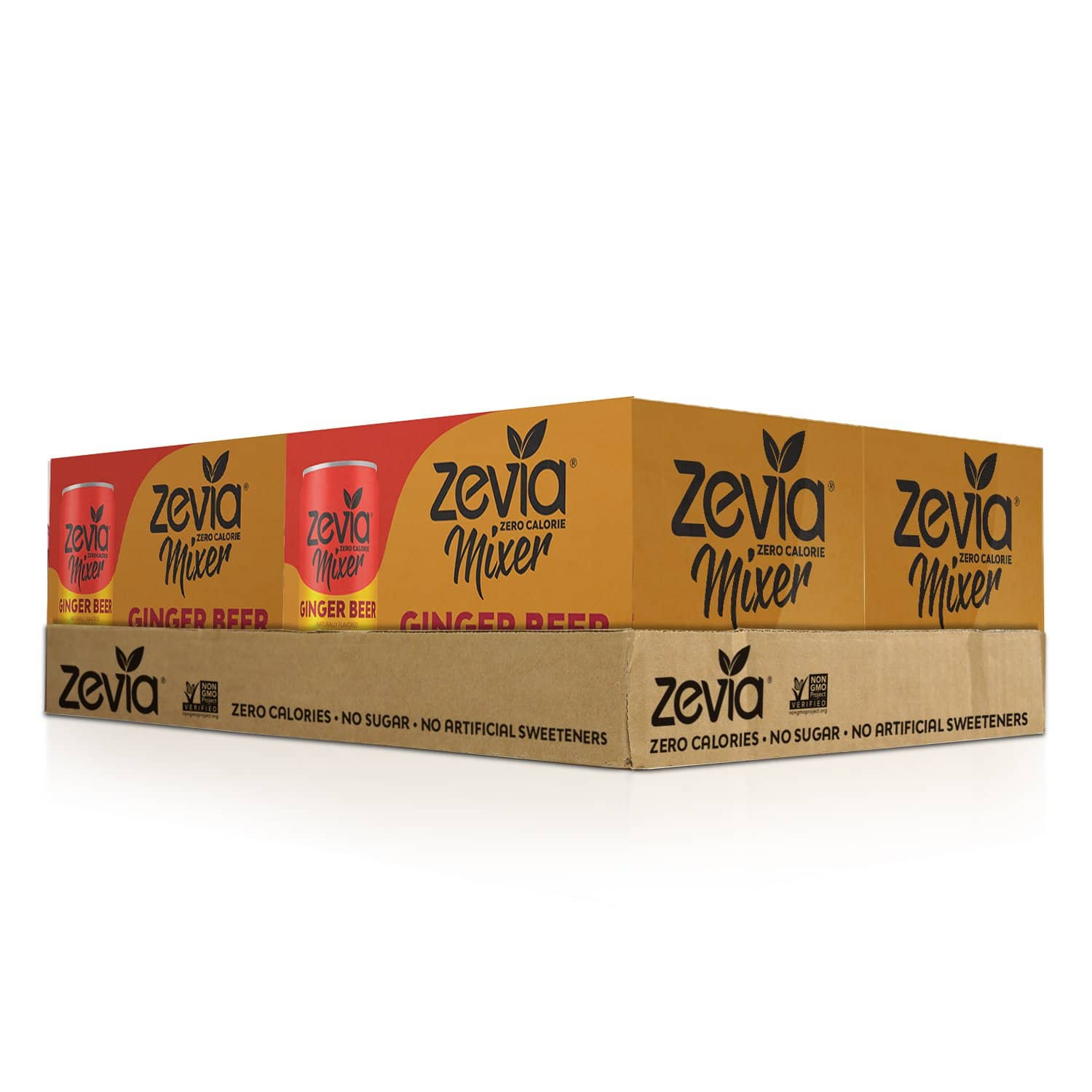 Zevia Ginger Beer, 7.5oz (Pack of 12) Zero Calories or Sugar, Naturally Sweetened with Stevia Leaf Extract , A Perfect Drink Mixer: As low as $6.78 w/S&S