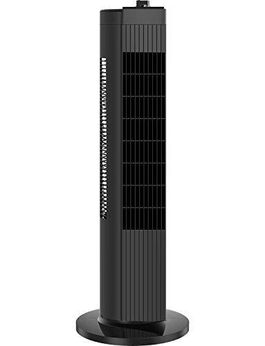 "28"" Pelonis FZ10-19MB 3-Speed Quiet Compact Oscillating Tower Fan (Black)"