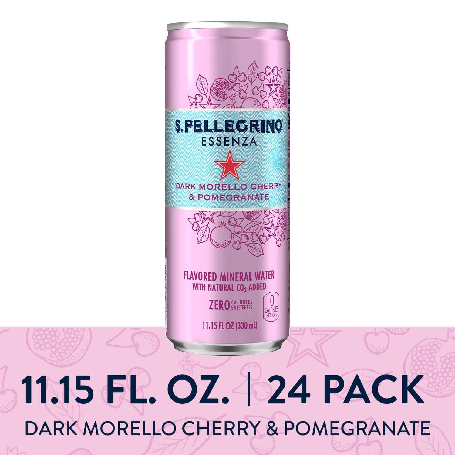 24 pack S.Pellegrino Essenza Dark Morello Cherry & Pomegranate Flavored Mineral Water, 11.15 Fl Oz: As low as $8.92 w/S&S